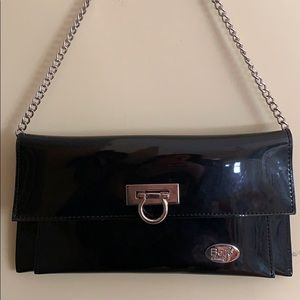 Beijo black patent leather purse
